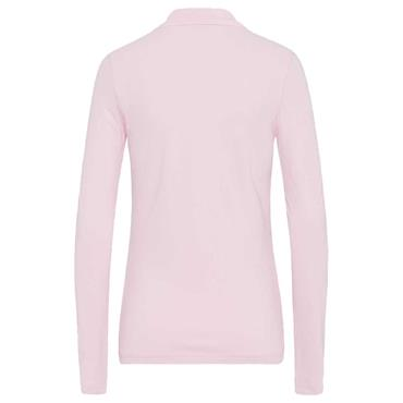 Golfino Ladies Mia Warming Long Sleeve Golf Polo Shirt with Sun and Cold Protection Pink
