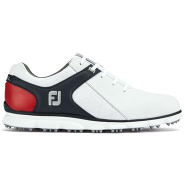 FootJoy Gents Pro SL Golf Shoes Wide Fit White - Navy - Red