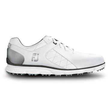 84ecb8b0600bd FootJoy Gents Pro SL Golf Shoes Medium Fit White - Silver ...