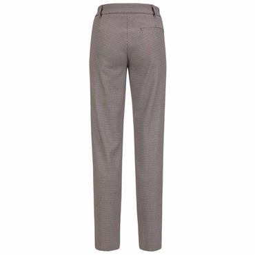 Golfino Ladies Elegant Jacquard Stretch Trousers Merlot