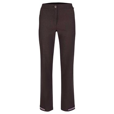 Golfino Ladies Tech Stretch Snakeskin Trousers Mocha