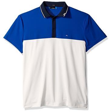 J.Lindeberg Gents Johan Reg TX Torque Polo Shirt Strong Blue