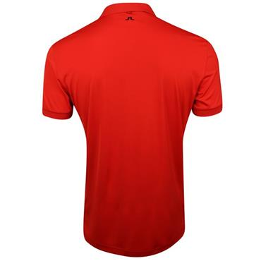J.Lindeberg Gents Dennis Slim TX Jersey Polo Shirt Red