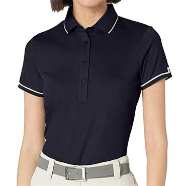J.Lindeberg Ladies Leana Lux Pique Polo Shirt Navy