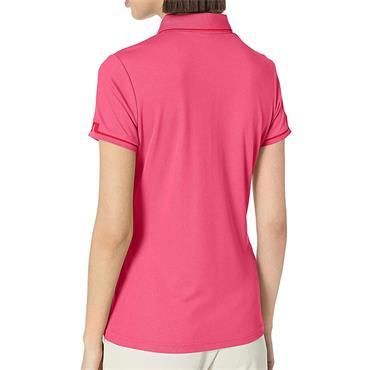 J.Lindeberg Ladies Leana Lux Pique Polo Shirt Pink