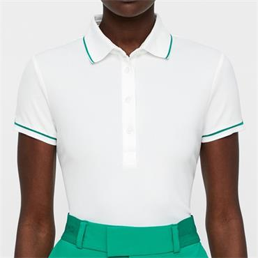 J.Lindeberg Ladies Leana Lux Pique Polo Shirt White