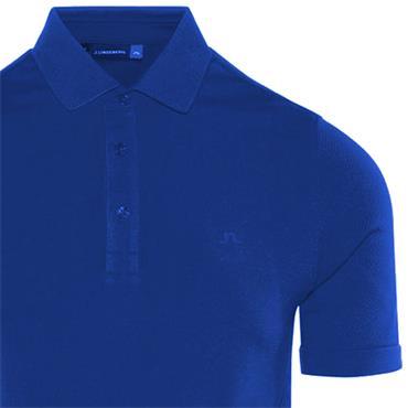 J.Lindeberg Gents Ash Seamless Polo Blue (6360)
