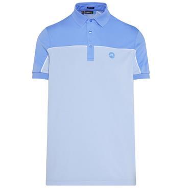 J.Lindeberg Gents Mateo Reg TX Jersey Polo Shirt Blue