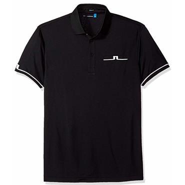 J.Lindeberg Gents Petr Regular TX Jersey Polo Shirt Black