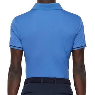 J.Lindeberg Gents Petr TX Jersey Reg Fit Polo Shirt Blue