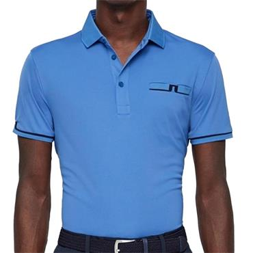 J.Lindeberg Gents Petr TX Jersey Reg Fit Polo Shirt Blue