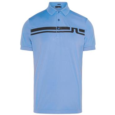 J.Lindeberg Gents Eddy Slim TX Jersey Polo Shirt Blue