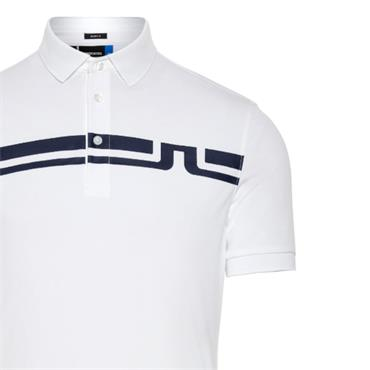 J.Lindeberg Gents Eddy Slim TX Jersey Polo Shirt White
