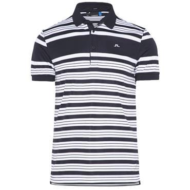 J.Lindeberg Gents Ralfs Striped Slim TX Polo Shirt Navy