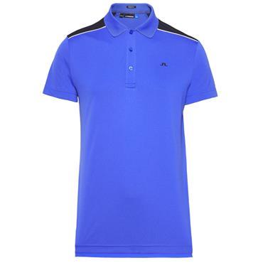 J.Lindeberg Gents Matty Reg TX Jersey Polo Shirt Blue