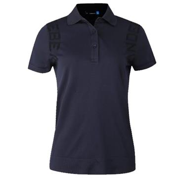 J.Lindeberg Ladies Giselle Lightweight Seamless Polo Shirt Navy