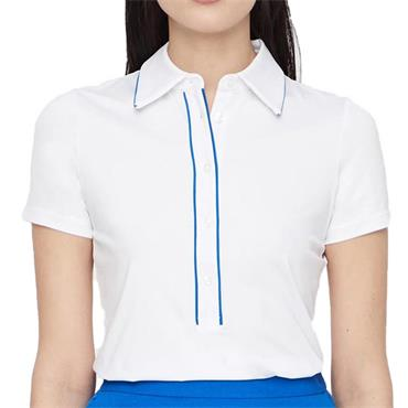 J.Lindeberg Ladies Flor Compression Polo Shirt White