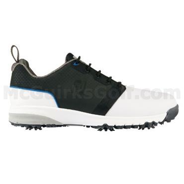 FootJoy Gents Contour Fit Golf Shoes Medium Fit White - Black - Grey