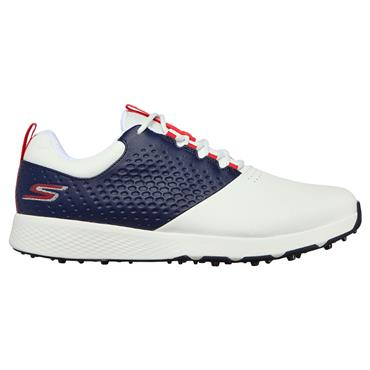 Skechers Gents Elite 4 Shoes White - Navy - Red