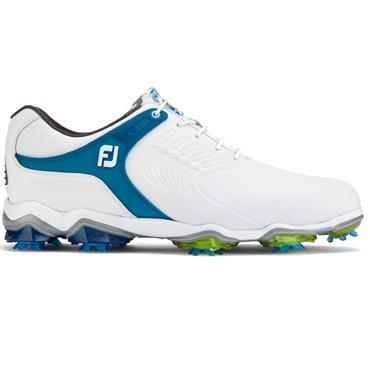 FootJoy Gents Tour S Golf Shoes Wide Fit White - Blue