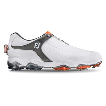 FootJoy Gents Tour S BOA Golf Shoes Wide Fit White - Dark Grey