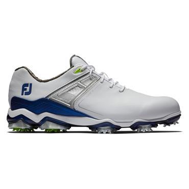 FootJoy Gents Tour X Shoe Wide Fit White - Blue