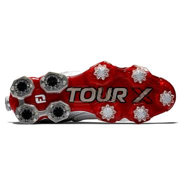 FootJoy Gents Tour X BOA Shoes Medium-Fit White - Grey