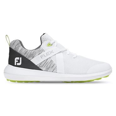 FootJoy Gents Flex Spikeless Shoes White - Grey