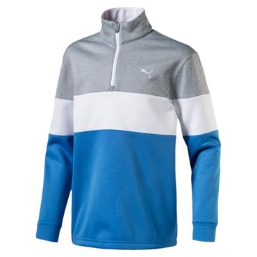 Puma Junior 1/4 Zip Golf Popover French Blue