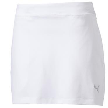 Puma Junior Girls Knit Skirt Bright White