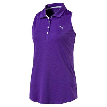 Puma Ladies Racerback Polo Royal Purple