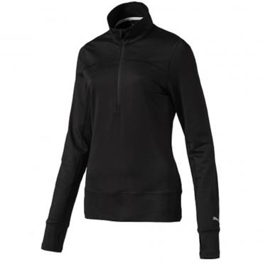 Puma Ladies 1/4 Zip Popover Black