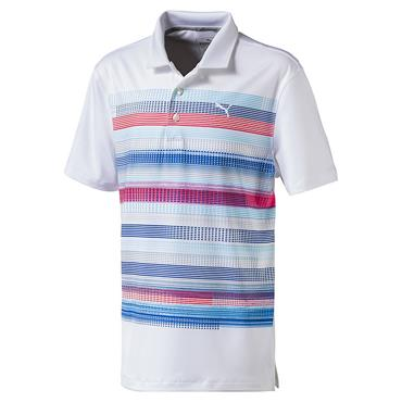 Puma Junior - Boys Baker Polo White - Fiery Coral