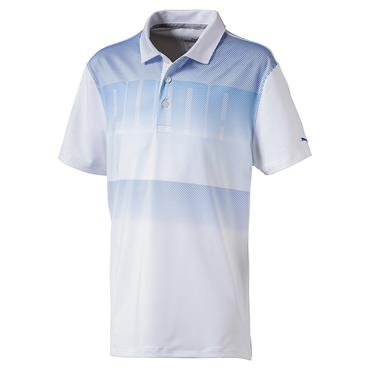 Puma Junior - Boys Logo Polo White - Lapis Blue
