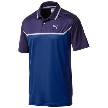 Puma Gents Bonded Tech Polo Shirt Peacoat - Sodalite