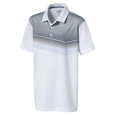 Puma Junior - Boys Road Map Polo Shirt White - Peacoat