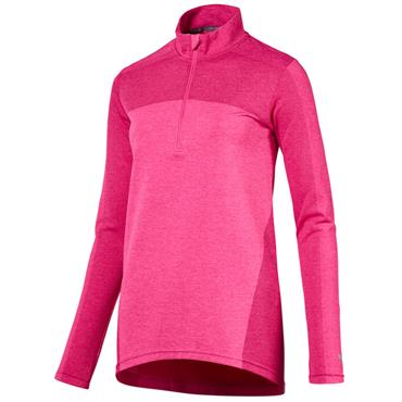 Puma Ladies Evoknit 1/4 Zip Top Carmine Rose
