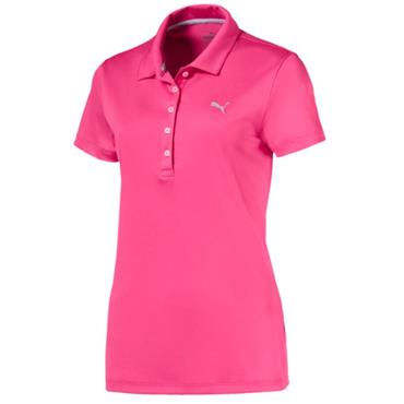Puma Ladies Pounce Polo Shirt Carmine Rose