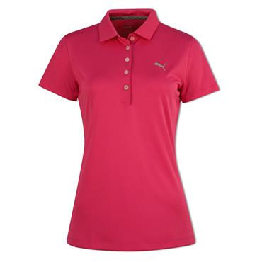 Puma Ladies Pounce Polo Shirt Fuchsia