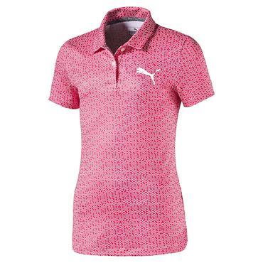 Puma Junior Girls Polka Dot Polo Shirt Plasma