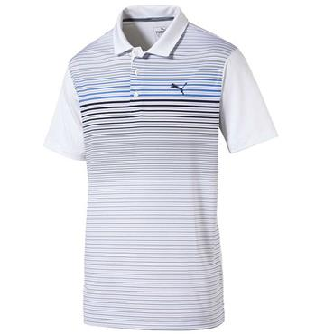 Puma Gents Highlight Stripe Polo Shirt Marina
