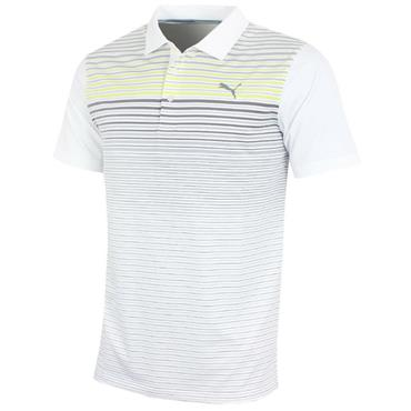 Puma Gents Highlight Stripe Polo Shirt Acid Lime