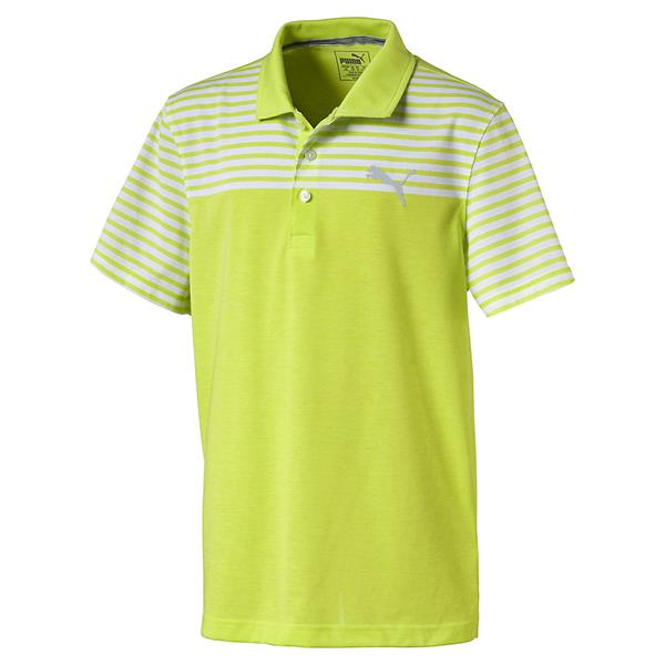 ecf0558e Puma Junior - Boys Clubhouse Polo Shirt Lime   Golf Store