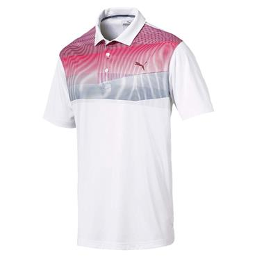 Puma Gents Pwrcool Refraction Polo Shirt Pomegranate