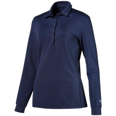 Puma Ladies Long Sleeve Polo Shirt Peacoat