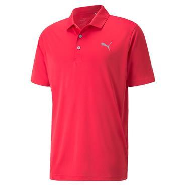Puma Gents Rotation Polo Shirt Teaberry