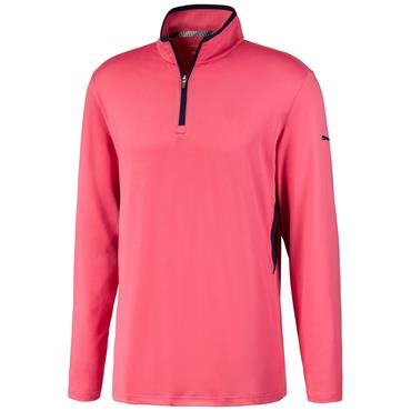 Puma Gents Rotation ¼ Zip Rapture Rose