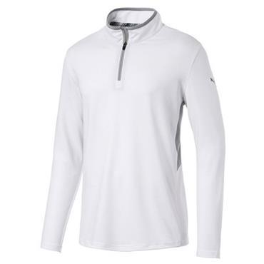 Puma Gents Rotation ¼ Zip Bright White