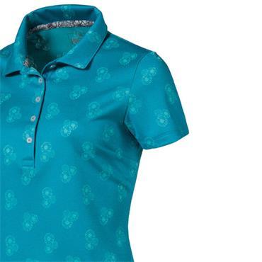 Puma Ladies Burst Into Bloom Polo Shirt Caribbean Sea