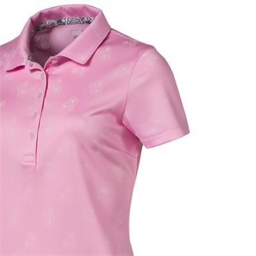 Puma Ladies Burst Into Bloom Polo Shirt Pink
